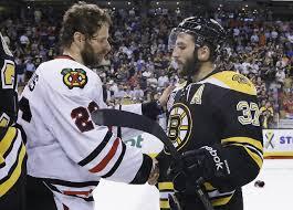 Bruins Hawks Handshake