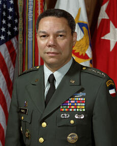 General Colin Powell Associate with Eagles