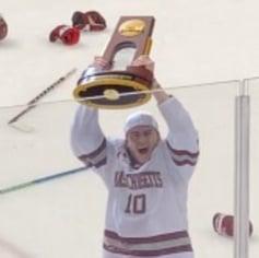 Bridgedale grad Josh Lopina with NCAA D1 Trophy